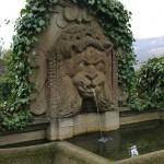 メディチの館の庭園には、象徴的なライオンの泉が。