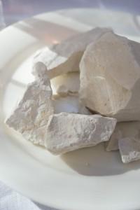 本当に真っ白な石灰岩。シャンパーニュならでは。