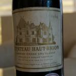 シャトー・オー・ブリヨンの1964年のボトルに寄ってみました。