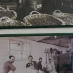 昔の収穫や圧搾風景の写真が飾られていた。