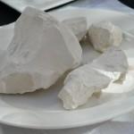 これがシャンパーニュを生み出す石灰岩。