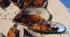 ニュージーランドのムール貝のグリル。ピノ・ノワールと、美味!