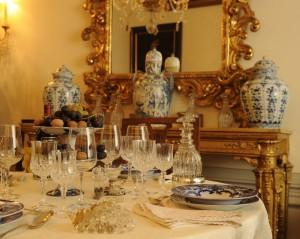 フレスコバルディ家のテーブル・コーディネート。