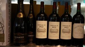 左の「カルテット」はロデレールがカリフォルニアで造るスパークリングワイン。こちらも人気。