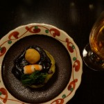 八丁味噌がたっぷりのった、加茂茄子田楽。