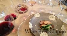 赤ワイン「ガマレ」と大山鶏鍬焼きも、心地よい相性でした。