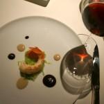 バルバレスコ・ブリッコ・アジーリ2005と赤座海老 鮪と黒トリュフのソース