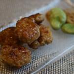 鶏のツクネ、タレ風味。