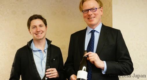 ジャスパー・モリスMW(右)と、ライジング・スターのひとり、シルヴァン・ロワシェ。