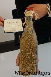 ボトルには貝殻がいっぱいなので、ラベルは首からさげています。