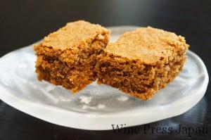 ヘーゼルナッツやココアを使ったケーキ、「トルテ・ディ・ノッチョーレ」。しっかりとしてヘーゼルナッツの風味が豊かです。