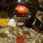 プイィ・フュメの館にディスプレイされていた香りのサンプル「トロピカルフルーツ」。