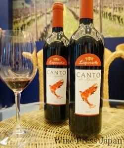 「カント・デ・アパルタ」は、地元品種のカルムネールに、メルロ、カベルネ・ソーヴィニヨン、シラーをブレンド。スパイシーでボリュームもあり。