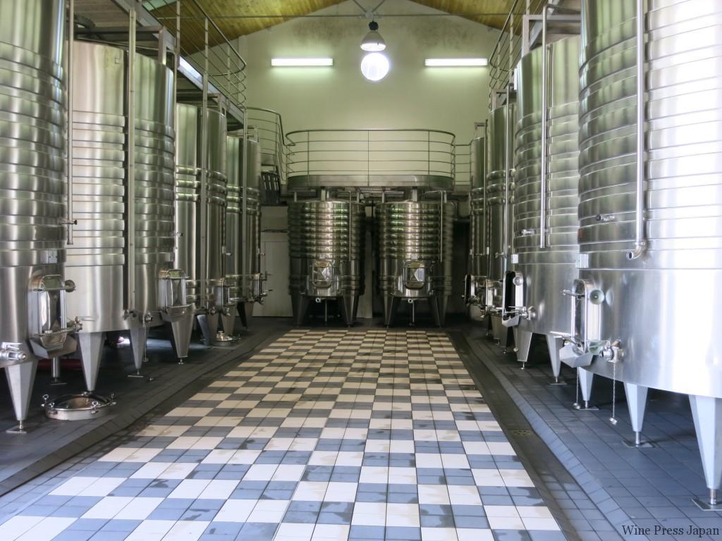 05年ヴィンテージから稼働を始めたクロ・フロリデーヌの醸造棟。