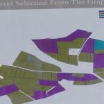 コスデストゥルネルの畑の栽培品種地図。