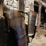歴史あるベルサーノには、昔の道具がたくさん展示されています。