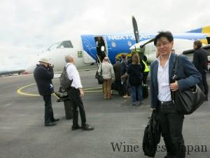 チャーター機に乗り、ストックホルムからオーランド諸島の主都マリエハムンへ。