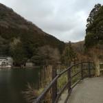 温泉郷の奥まった場所に「金鱗湖」が。ここは、普通の湧き水と、温泉水、両方が湧いていて水温が高いようです。