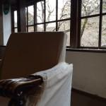 金鱗湖の近くの民家の2階が、素敵な茶房になっていました。その名も「天井桟敷」。