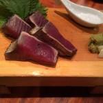 鰹が宮崎の特産と知りませんでした。「藁焼き鰹」は、新鮮かつスモーキーで美味!