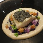 プレスランチでは、レ・クレイエールのシェフ、フィリップ・ミル氏による料理が