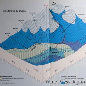 鮮やかなブルーの位置が特級畑。ヴァルミュールはその中央に位置する。