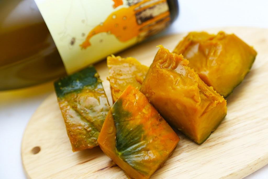【応用編】お野菜の煮物も簡単。かぼちゃの外皮まで程よく柔らかになります(煮崩れもしません)。